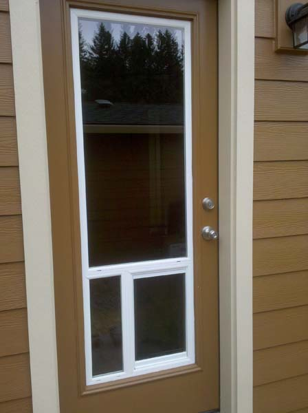 After Pet Door Installation